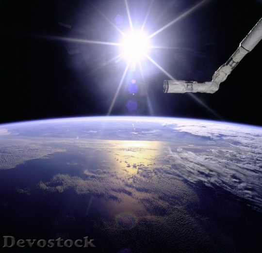 Devostock Sun Earth Space Ocean HD