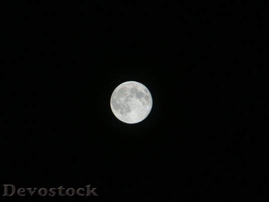 Devostock Supermoon Moon Night Sky HD