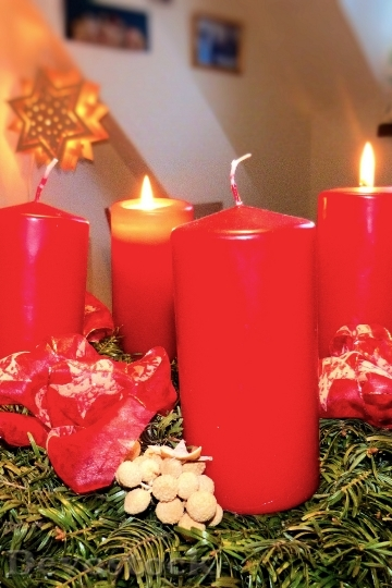 Devostock Advent Advent Wreath Atmosphre 0 4K
