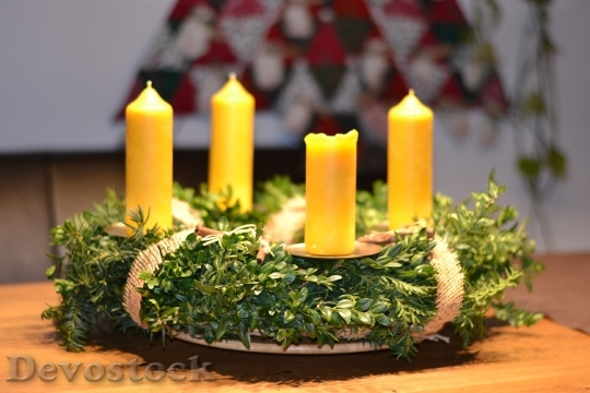 Devostock Advent Wreath ChristmasDeco 4K