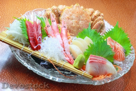 Devostock ASSORTED CRAB AND SHRIMP AND SASHIMI