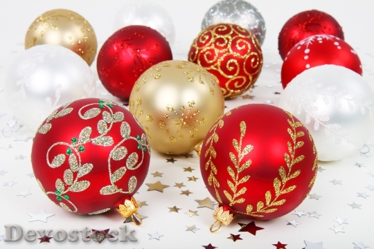 Devostock Background Ball Bauble Chritmas 4K