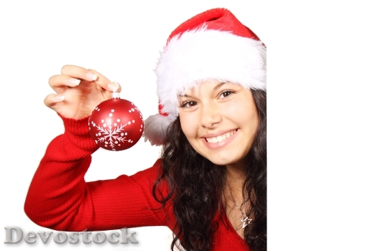 Devostock Board Christmas Claus Femle 0 4K