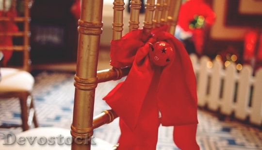 Devostock Bow Red Xmas Chritmas 4K