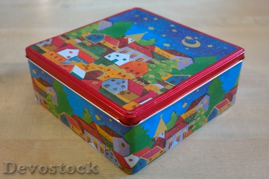 Devostock Box Cookie Jar Chritmas 4K