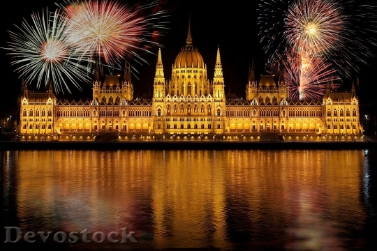 Devostock Budapest Parliament According To Hungary Fireworks 37854 4K.jpeg