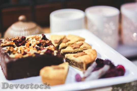 Devostock Cake Cakes Brownie Bikle 4K