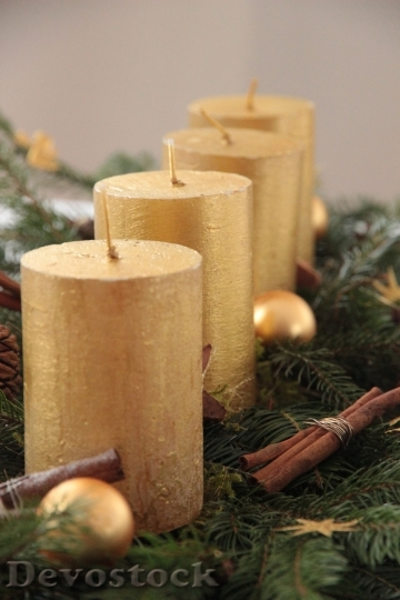 Devostock Candle Advent Wreath 104437 4K