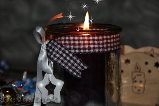 Devostock Candle Christmas Greeting Chritmas 4K