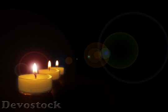 Devostock Candlelight Candles Romantic ight 4K