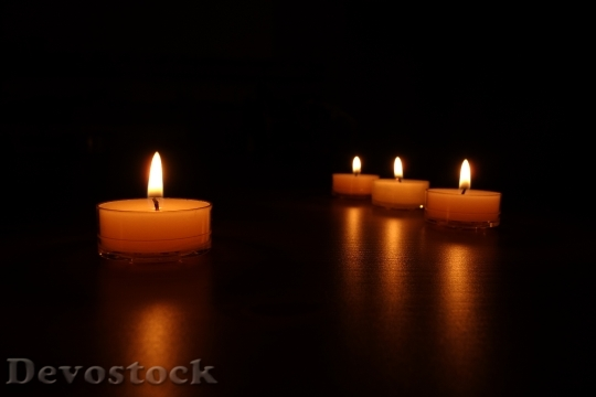 Devostock Candlelight Candles Romantic Liht 0 4K
