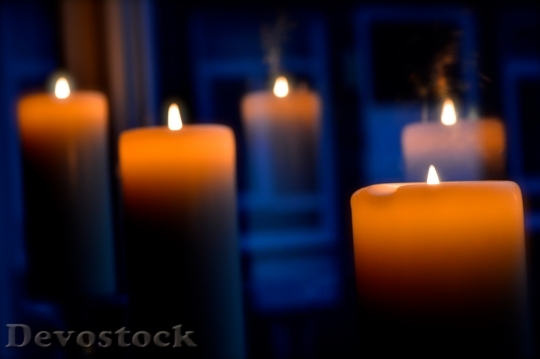 Devostock Candles Christmas FestiveFire 4K