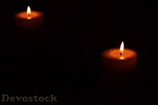 Devostock Candles Romantic Dark Celebrtion 4K