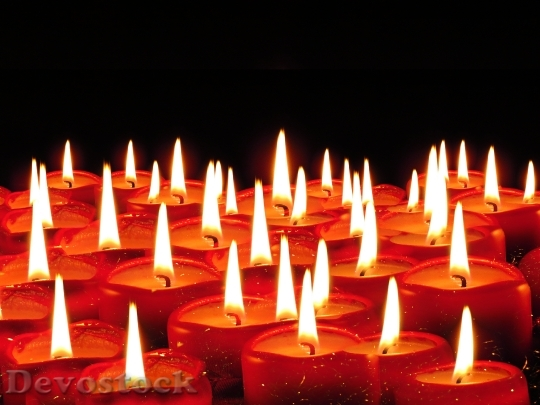 Devostock Candles Wick Christma Wax 4K