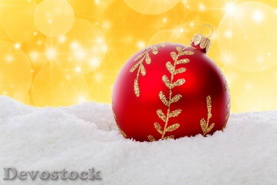 Devostock Christmas Ball Bauble Celebraton 0 4K