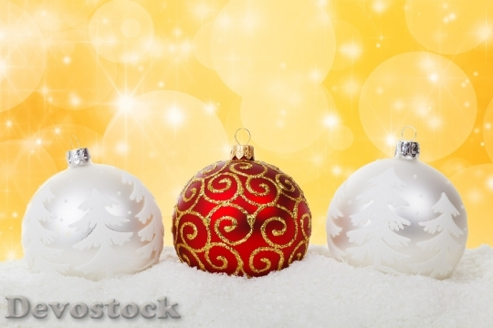 Devostock Christmas Christmas Ball Bables 4K