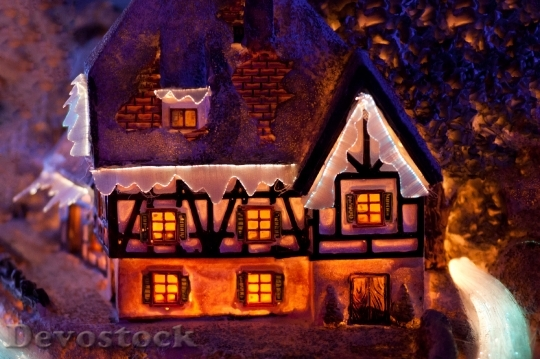 Devostock Christmas Colorful Dark Decortion 4K