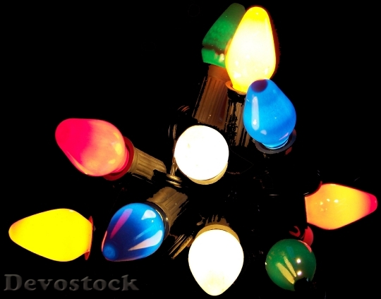 Devostock Christmas Lights ColorsXmas 4K