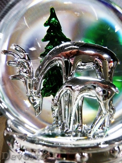 Devostock Christmas Ornament Detail reen 4K