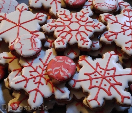 Devostock Christmas Snowflake Cookie 150186 4K
