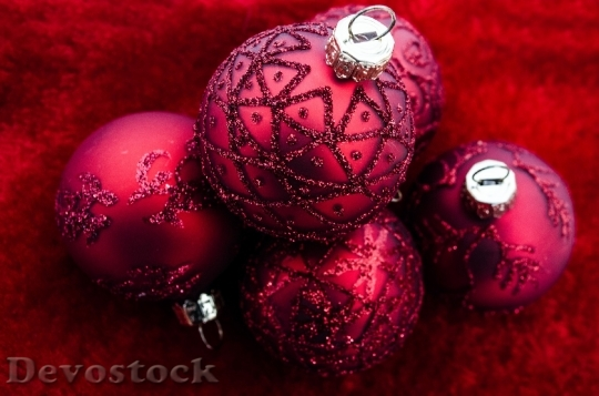 Devostock Christmas Xmas Decoratio Red 4K