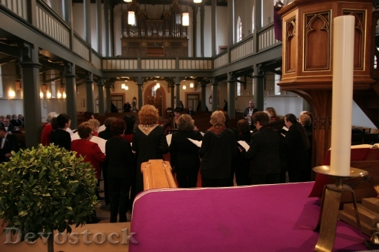Devostock Church Choir Human Siging 4K