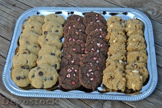 Devostock Cookies Platter ChocolateChip 4K