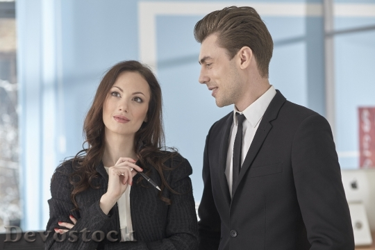 Devostock Couples Businessmen 4K