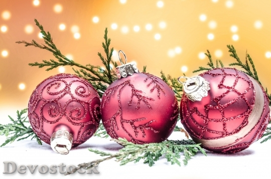 Devostock Decoration Red Christmas Tme 0 4K