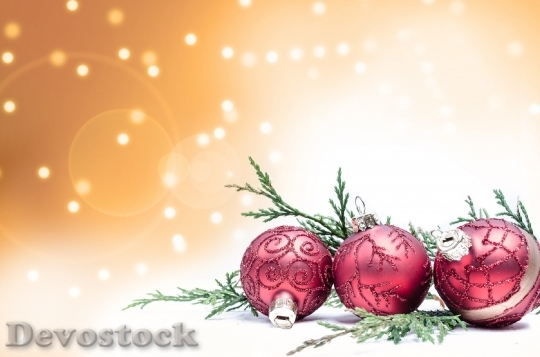 Devostock Decoration Red ChristmasTime 4K