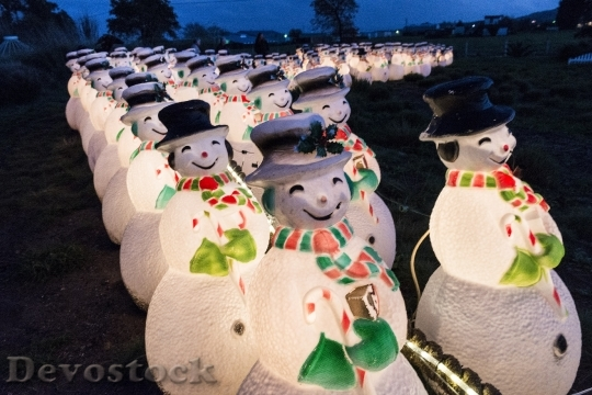 Devostock Decorative Snowmen Christmas Hoiday 4K
