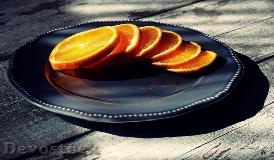Devostock Food Tasty Orange Slices 4K