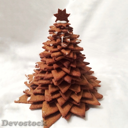 Devostock Gingerbread Christmas Tree Chritmas 4K