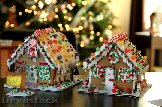 Devostock Gingerbread Holiday ChristmasHome 4K