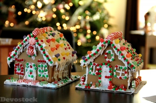 Devostock Gingerbread House Gingerbread 26157 4K