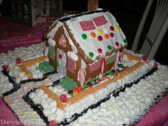 Devostock Gingerbread House Marshmallo Art 4K