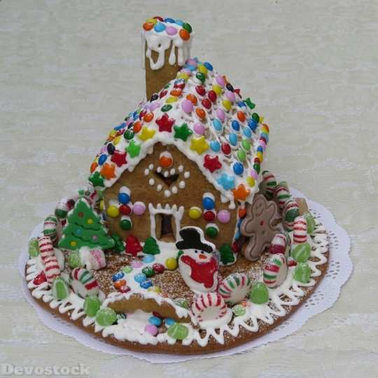 Devostock Gingerbread House Pastry Gingerbrad 0 4K
