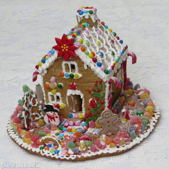 Devostock Gingerbread House Pastry Gingerread 4K