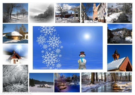 Devostock Greeting Card WinterSnow 4K