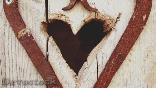 Devostock Heart Wooden Door Entrance Outdoor 1763 4K.jpeg