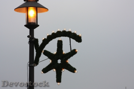Devostock Lamp Christmas Beach 9157 4K