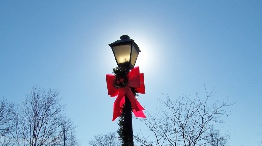 Devostock Lamp Post Lamppost Chritmas 4K