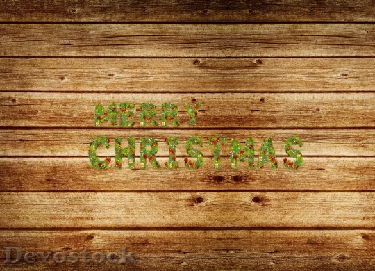 Devostock Letters Christmas Made Braches 4K