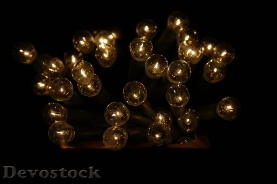 Devostock Light Bulbs Christmas Decoratins 3 4K