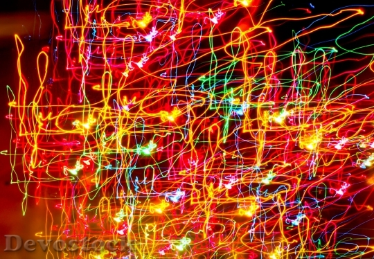 Devostock Light Creative Abstract Colorful 4K