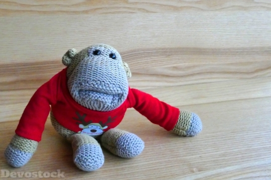 Devostock Monkey Toy Stuffed appy 4K
