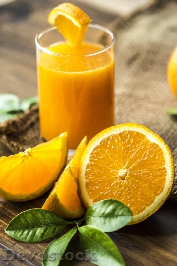 Devostock ORANGE AND ORANGE JUICE