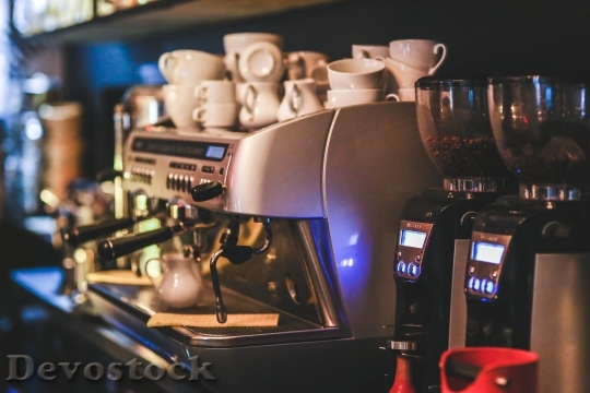 Devostock Restaurant Coffee Espresso Professional 4K