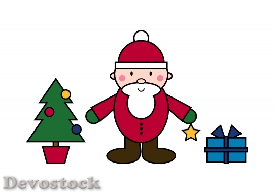 Devostock Santa Claus Christma Fig 4K