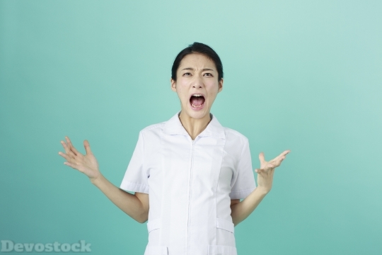 Devostock SCREAMING FEMALE NURSE